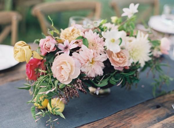 floral centerpiece vermont wedding