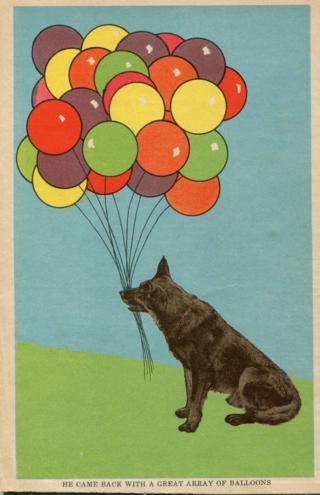 dog ballons