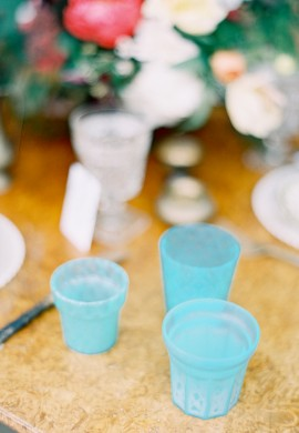 Turquoise Votive Candleholder Rentals NYC