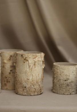 birch vases